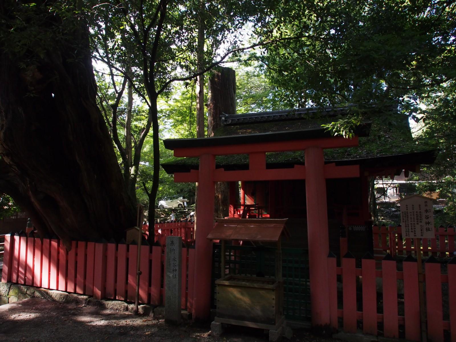 水谷神社(春日大社)の鳥居周辺