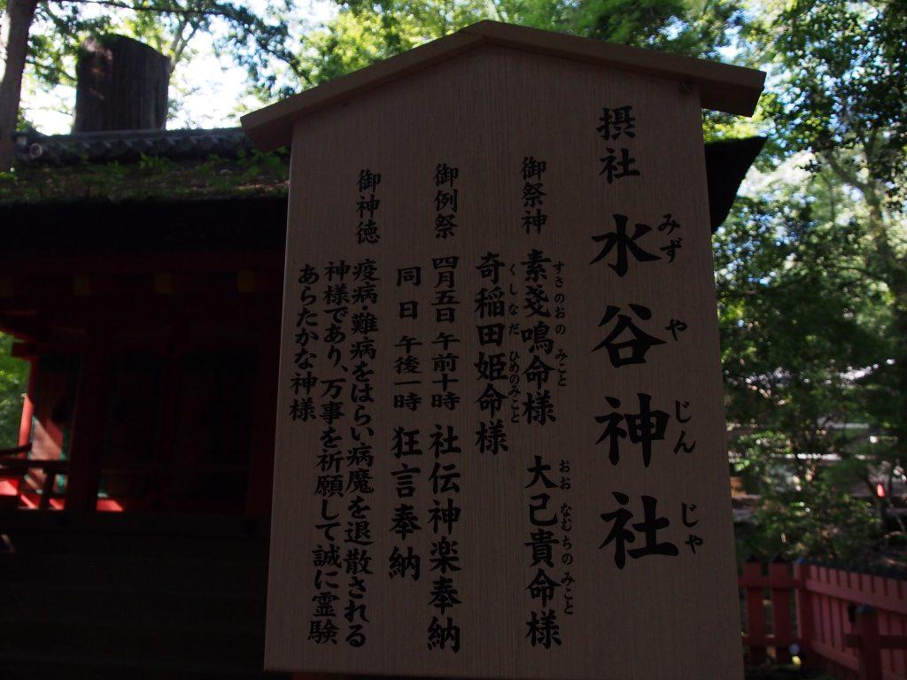 水谷神社の案内板