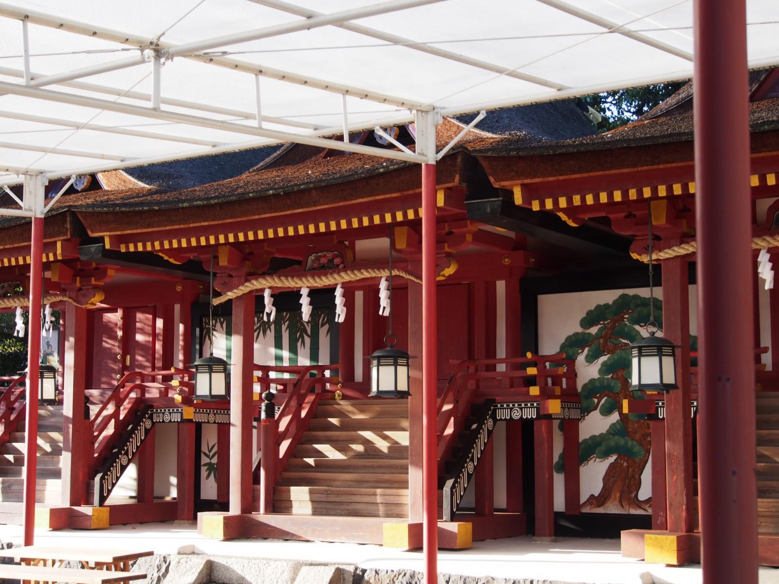 率川神社(奈良)の本殿