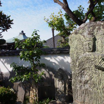 【十輪院石造合掌観音立像】「慈悲」の心を真っすぐに体現したかのような巨大な石仏