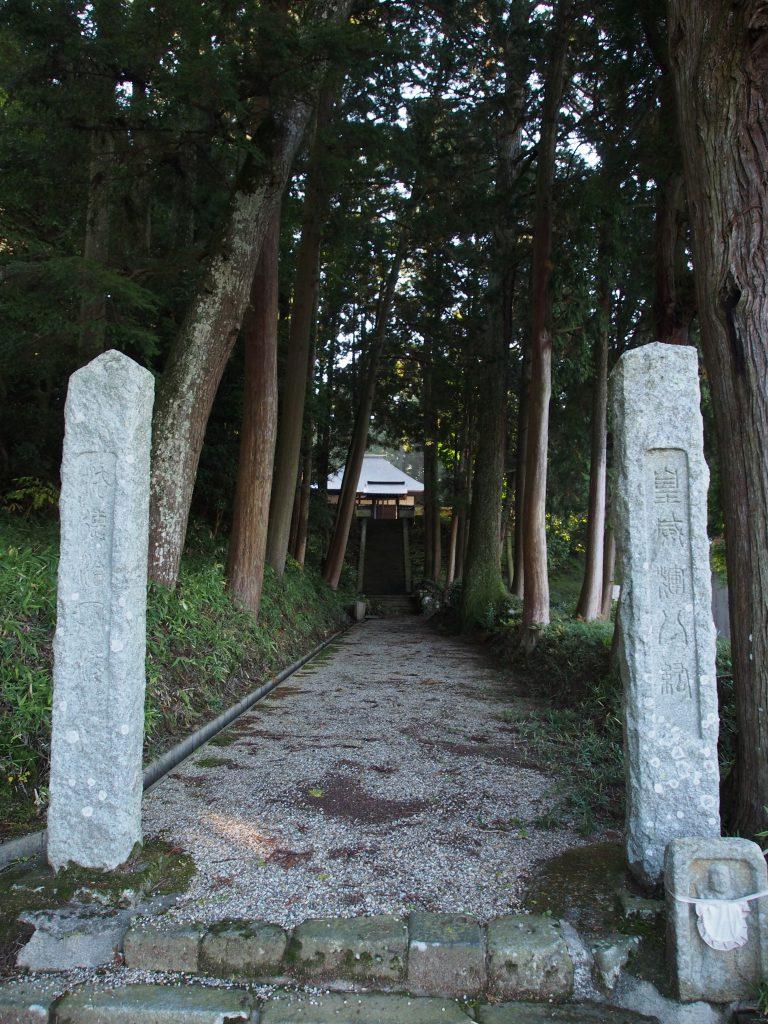 来迎寺の参道
