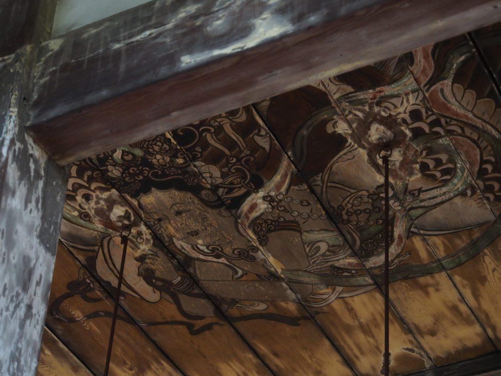 蓮長寺の天井画