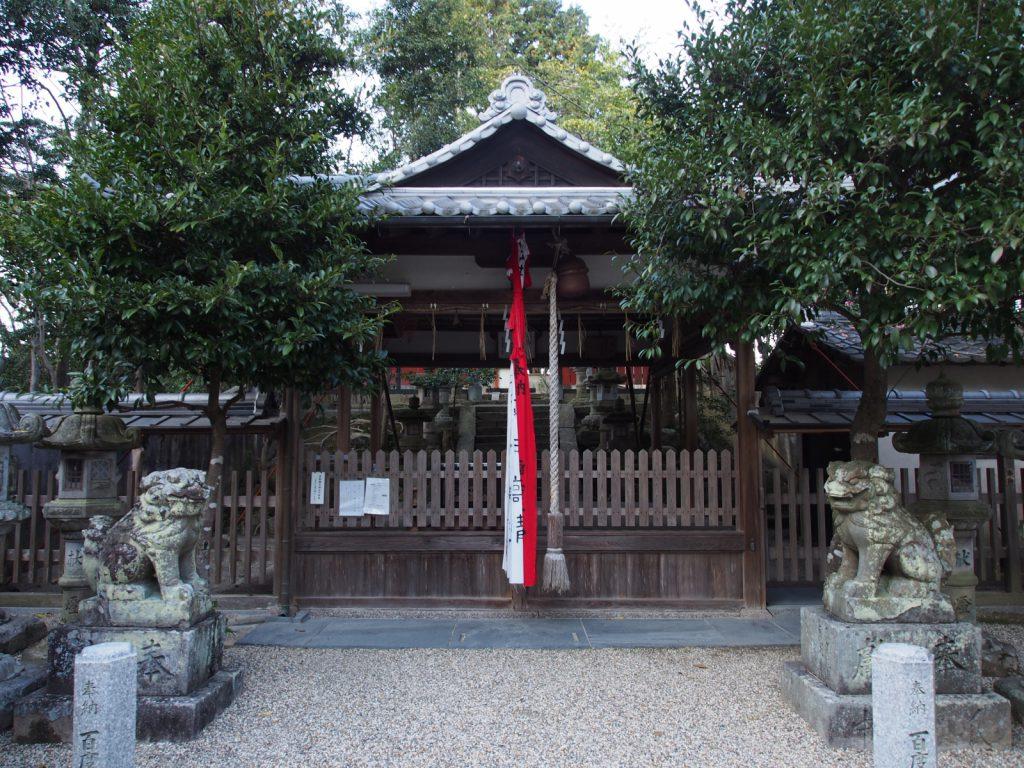 添御縣坐神社の拝殿