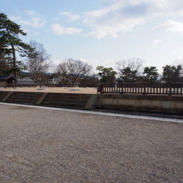 【興福寺南大門跡】かつて平城京「朱雀門」等に匹敵する規模の門があった空間