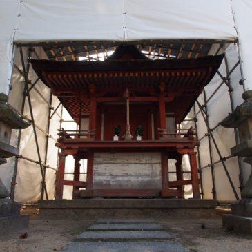 【若宮社(薬師寺)】「龍王社」と同じく「大津皇子」にゆかりの深い境内社