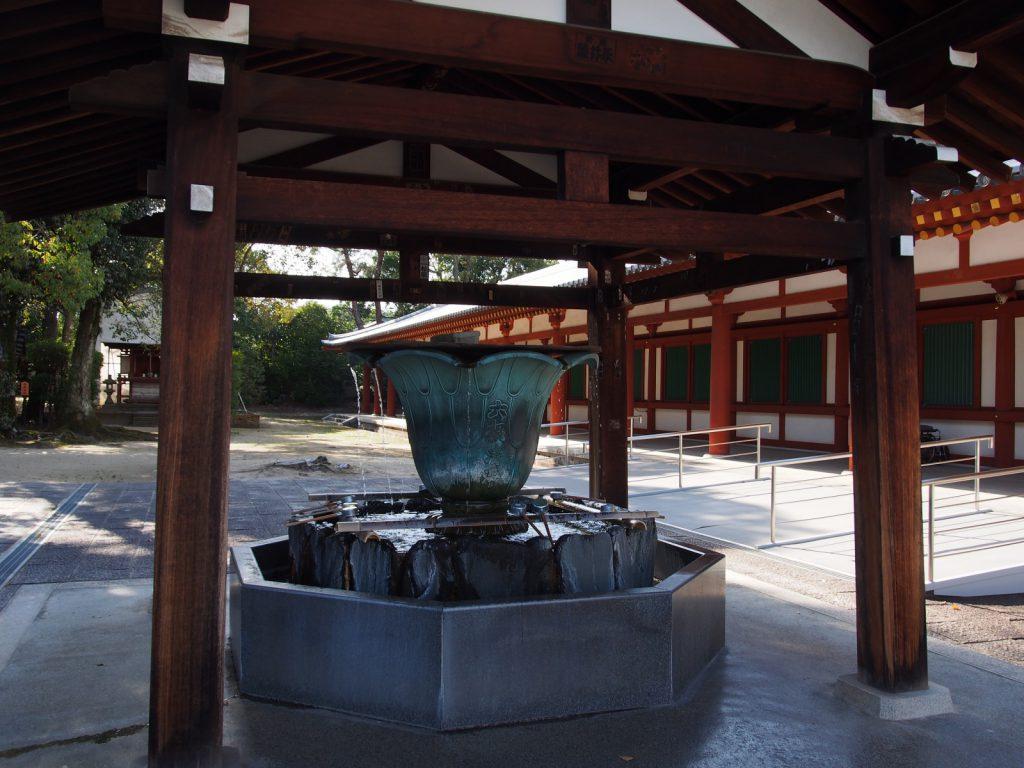 薬師寺の手水舎