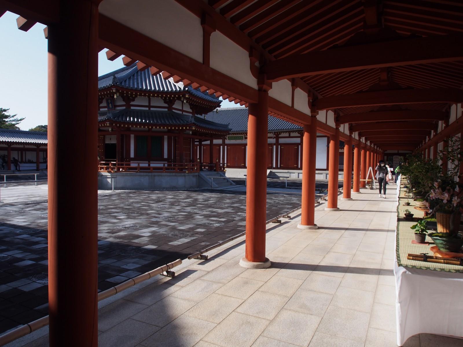 玄奘三蔵院伽藍の回廊部分