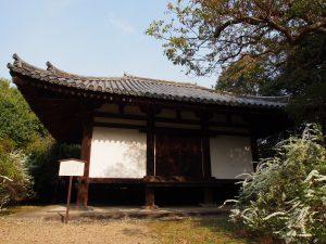 【海龍王寺経蔵】「雪柳」の咲き誇る空間に浮かび上がる鎌倉時代からの建築