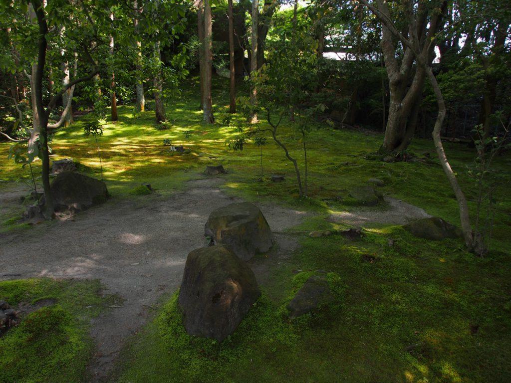 依水園の茶室跡
