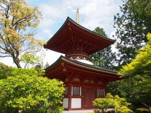 【円成寺多宝塔】近年再建された奈良市内では唯一の多宝塔