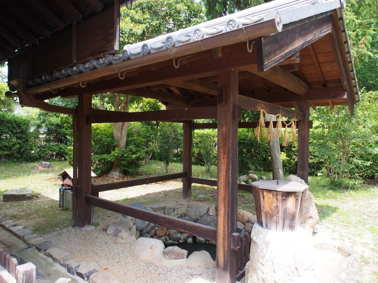 法華寺「浴室」脇にある古井戸