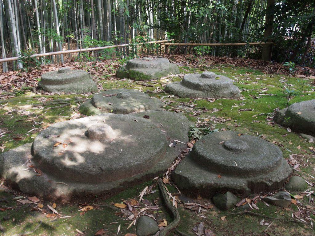 秋篠寺東塔跡の礎石群
