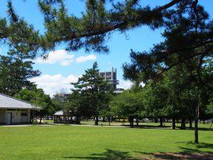 【登大路園地】近鉄奈良駅から徒歩すぐの位置にある奈良公園の玄関口