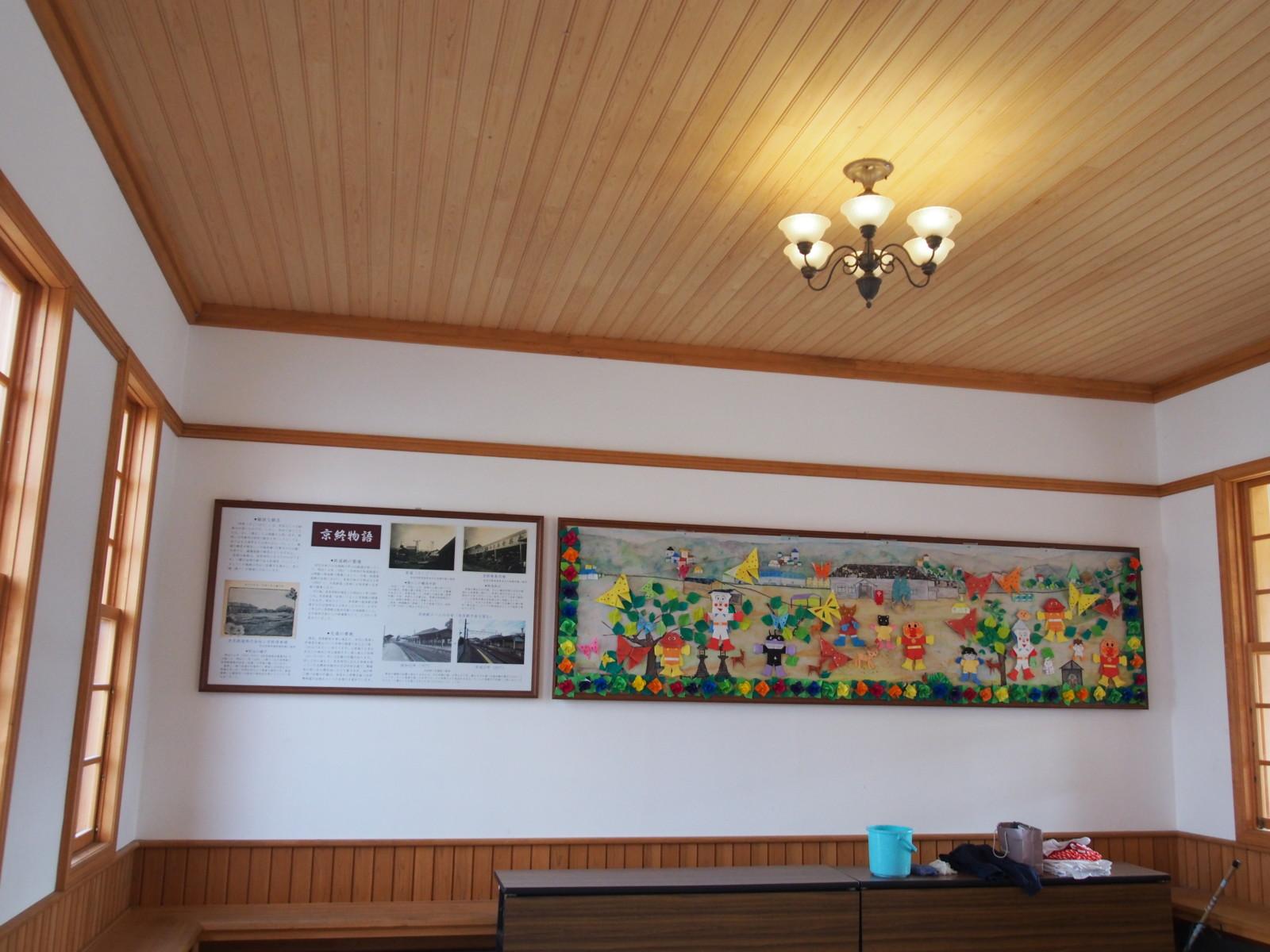 京終駅の待合室