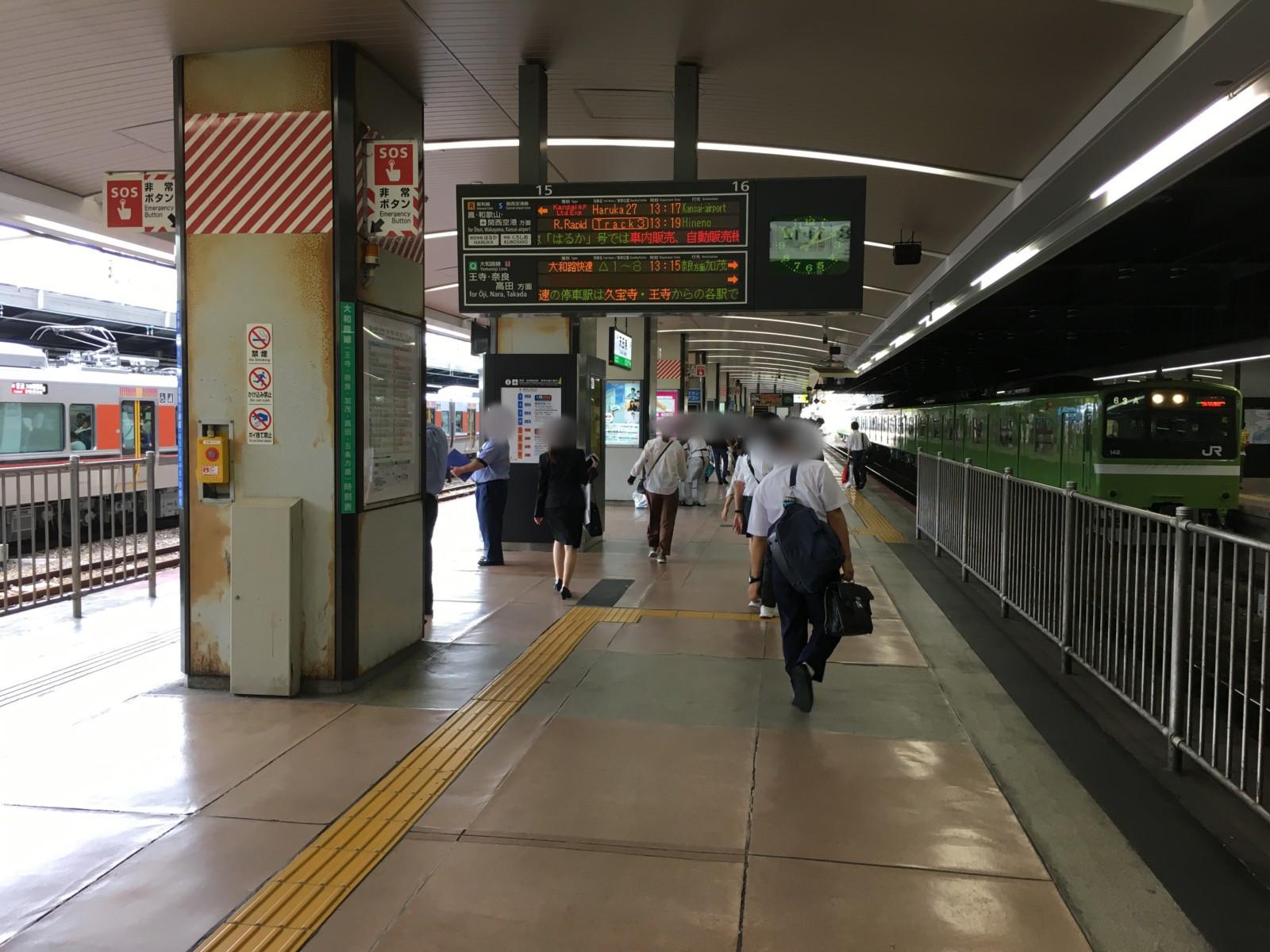 天王寺駅16番のりば