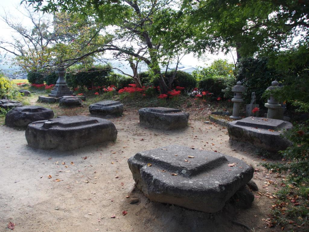 本薬師寺金堂跡の礎石