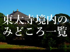 東大寺の各みどころ・観光スポットを全てご紹介!(有名・穴場・知られざるスポット)